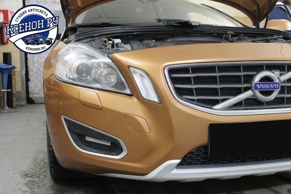 volvo s60 дхо philips 9led