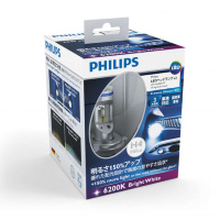 Светодиодные лампы H4 PHILIPS X-Treme Ultinon LED 6200K 12901HPX2